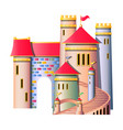 fairytale castle isolated vector image