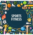 sport logo design template fitness or vector image