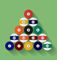 Icon of poll or billiard balls Flat style vector image