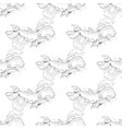 cute whale set on white background vector image