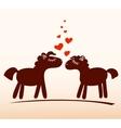 Horses in love vector image
