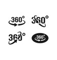 360 view icon graphic design template vector image vector image