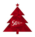 50 off fifty percent discount christmas tree vector image vector image