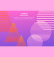 abstract geometric trendy template vector image