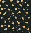 Abstract hand drawn seamless pattern with stars vector image vector image