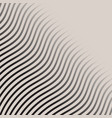 Abstract monochrome wave lines pattern striped vector image