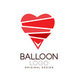balloon logo original design creative badge with vector image