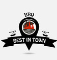 barbecue logo location vector image vector image