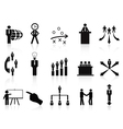 black management icons set vector image vector image