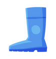blue rubber boot side view flat style vector image