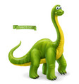 brachiosaurus sauropod dinosaur cartoon character vector image vector image