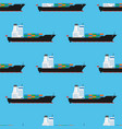 cargo ship pattern seamless vector image