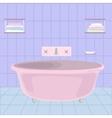 cartoom bathroom vector image vector image