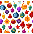 christmas decorations seamless pattern vector image vector image