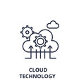 cloud technology line icon concept cloud vector image vector image