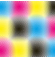 cmyk halftone rounds background vector image vector image