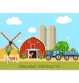 colorful milk farm life with natural economy vector image