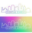 corpus christi skyline colorful linear style vector image vector image