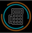 credit card machine icon - payment terminal vector image
