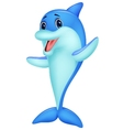 Cute dolphin cartoon vector image vector image