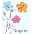 cute floral card vector image vector image