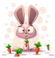 cute rabbit character - cartoon vector image vector image