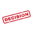 Decision Text Rubber Stamp vector image vector image
