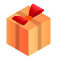 delivery gift box icon isometric style vector image vector image