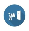 Door Delivery Icon Flat Design vector image vector image