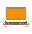 download in laptop vector image vector image