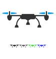 drone flat icon vector image vector image
