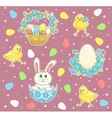 Easter cartoon set vector image