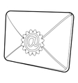 Envelope with email sign icon isometric 3d style vector image vector image