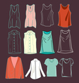 fashion womens shirts vector image
