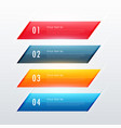 four steps colorful infographic banner design vector image vector image