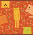 funny of happy bear vector image vector image