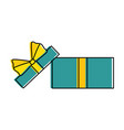 giftbox present open isolated icon vector image vector image