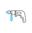 hammer drill thin line stroke icon hammer vector image vector image