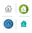 house with special facilities icon vector image vector image