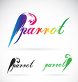 image a parrot design on white background vector image vector image