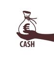 logo bag of money vector image vector image