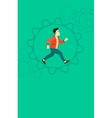 Man running inside the gear vector image vector image