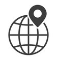 map pin black icon travel pin position vector image vector image