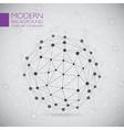 modern atomic sphere vector image