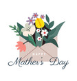 mothers day letter with flowers vector image vector image