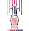nails polish product packaging mock up vector image