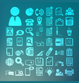 Office icons set Retina vector image vector image