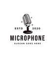 old stand microphone logo podcasting logo icon vector image