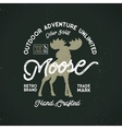 outdoor adventure label vintage typography vector image