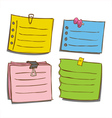 Paper memo notes vector image vector image